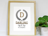 Surname and Monogram Sign Home Decor