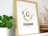 surname sign home decor