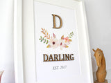 surname sign wall art