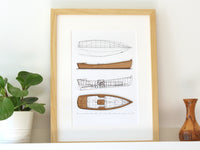 nautical decor, boat art