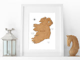 Ireland map art