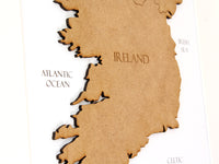 map of Ireland gift, custom map decor