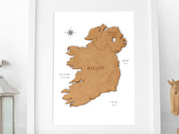 map of Ireland art
