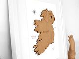 map of Ireland gift, wall art