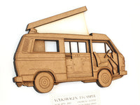 "Volkswagen T3 Camper Blueprint Art, VW T3 Decor, 8x10"" or A4 sized"
