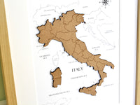 custom map of Italy, gift or home decor
