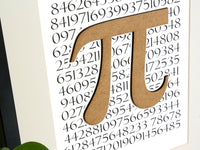 Pi symbol art, maths home decor, mathematician gift