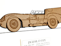Jaguar D-Type art, Jaguar car gift