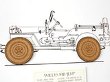 Willys Jeep wall art gift