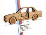 BMW E30 Coupe blueprint wall art, E30 Gifts