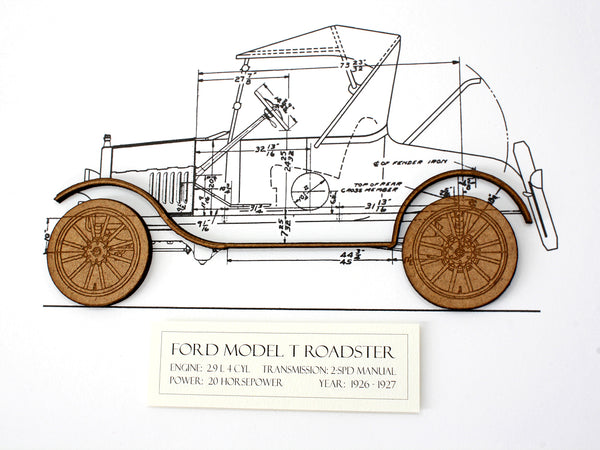 Ford Model T Roadster wall art gift