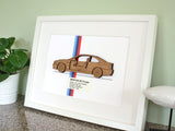 BMW M3 E46 decor wall art