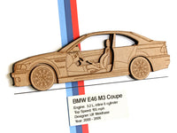 BMW M3 E46 blueprint art