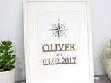 "Name & Date Sign, Laser Cut Wood, Date Established Sign, 8x10"" or A4 sized"