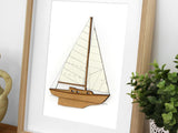 nautical decor, sailboat wall art