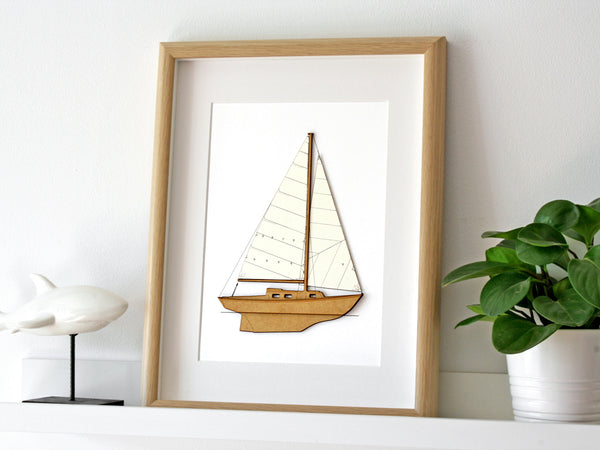Sailboat wall art nautical decor