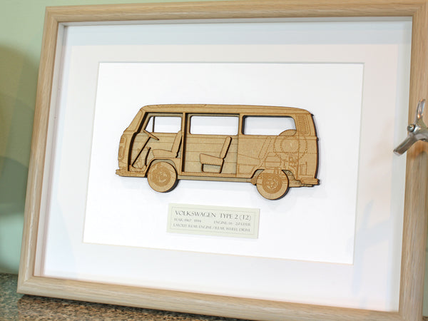 VW T2 bus wall art gift