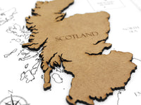 map of Scotland gift
