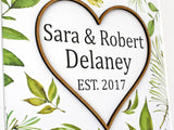 surname wedding sign wall art