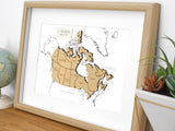 custom Canada map art