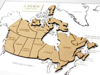 map of Canada art