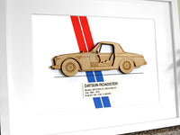 Datsun Roadster blueprint art