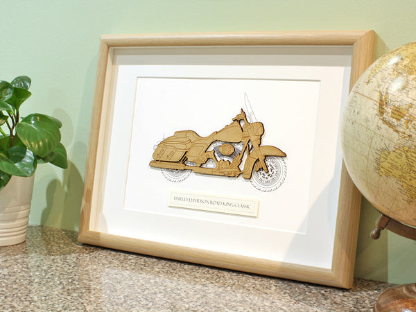 Harley Davidson Road King Classic art gift