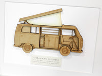 VW T2 Camper van blueprint art