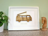 VW T2 Campervan blueprint art