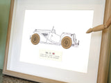 MG TC blueprint art