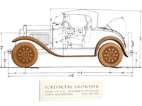 Ford Model A Roadster blueprint decor