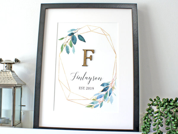 Geometric monogram and surname sign