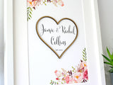 couple's name sign wall art