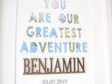 greatest adventure quote nursery art