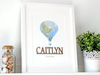 travel theme nursery decor custom name sign