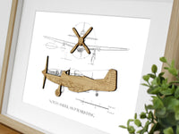 P51 Mustang gifts, aviation art