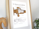 Biplane wall art, aviation decor, pilot gift