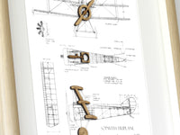 Sopwith Triplane art, aviation gifts