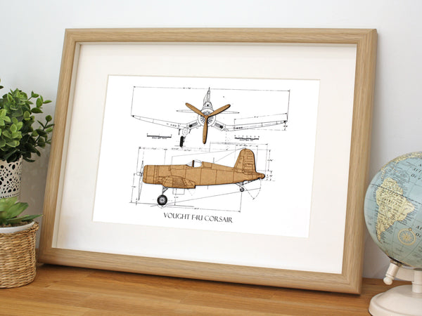F4U Corsair art, aviation gifts