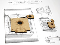camera patent art, photographer gift