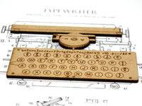 writer's office decor, typewriter patent art