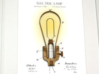 Lightbulb patent art home decor