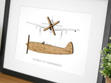 P-47 Thunderbolt aviation art, aviation gift