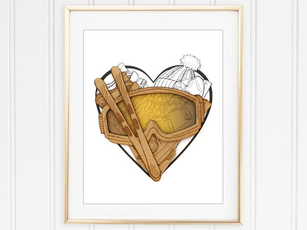 Skiing decor, ski gift