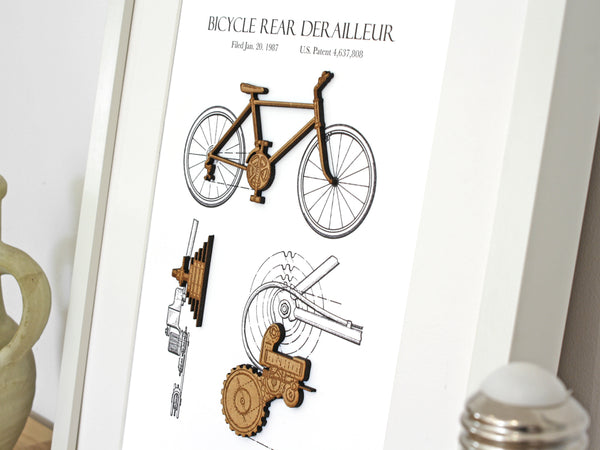 cycling patent art gift