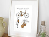 cycling gifts, cycling decor