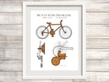 cycling patent art home decor