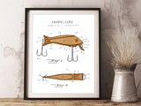 Fishing gift, lake cabin art