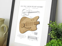 electric guitar gifts, guitar home decor