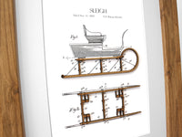 Winter home decor, sleigh patent